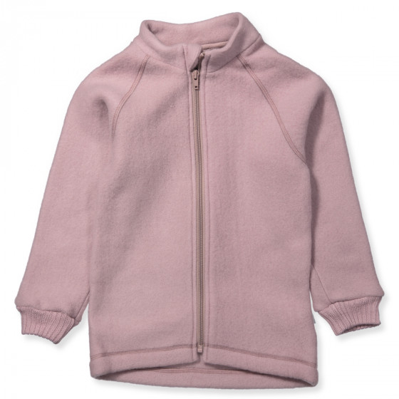 Mikk Line Rose Merino Wool Fleece Jacket Wild Rose