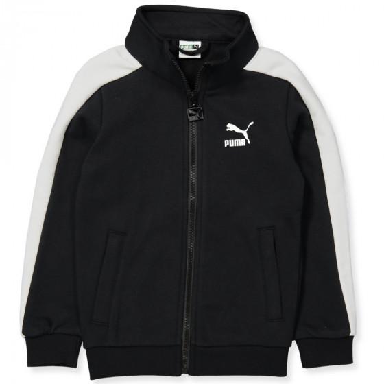 puma jacket black and white