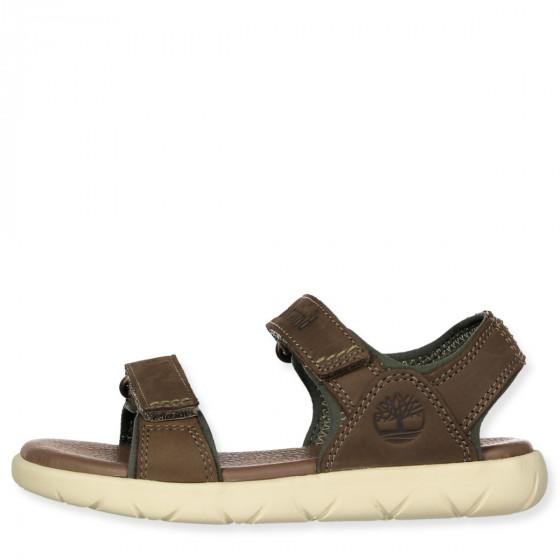 Nubble Lthr 2 strap sandals
