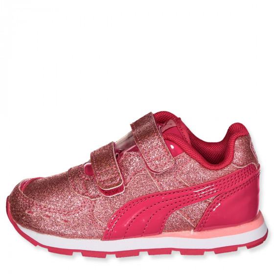 Puma sneakers lilla ruskind med velcro