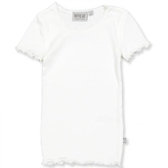 Ivory rib t shirt