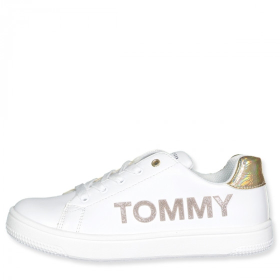 Tommy Hilfiger - White/gold sneakers