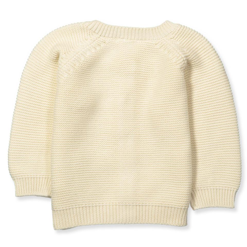 Organic cardigan knit