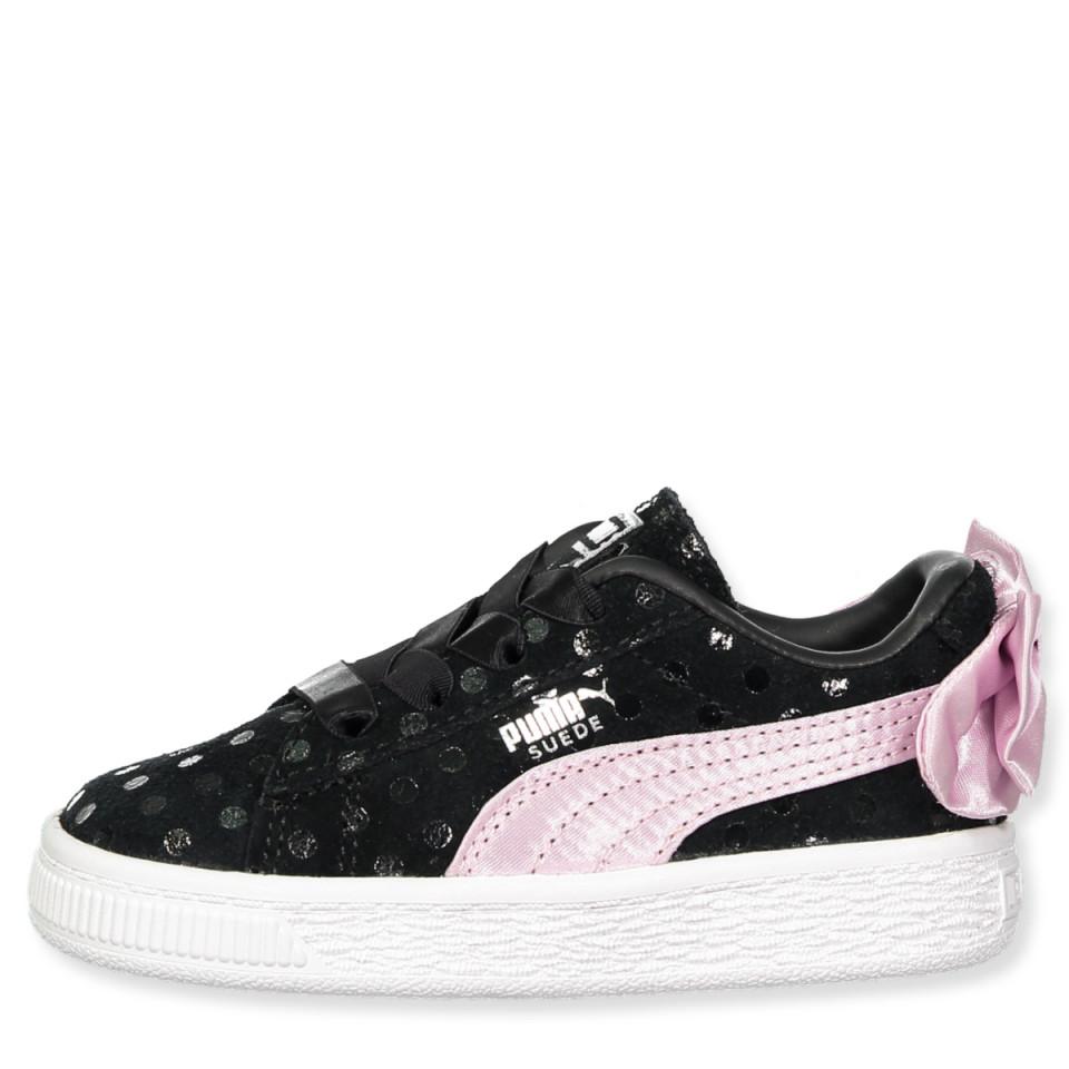 Puma Suede Bow Dots noire et rose