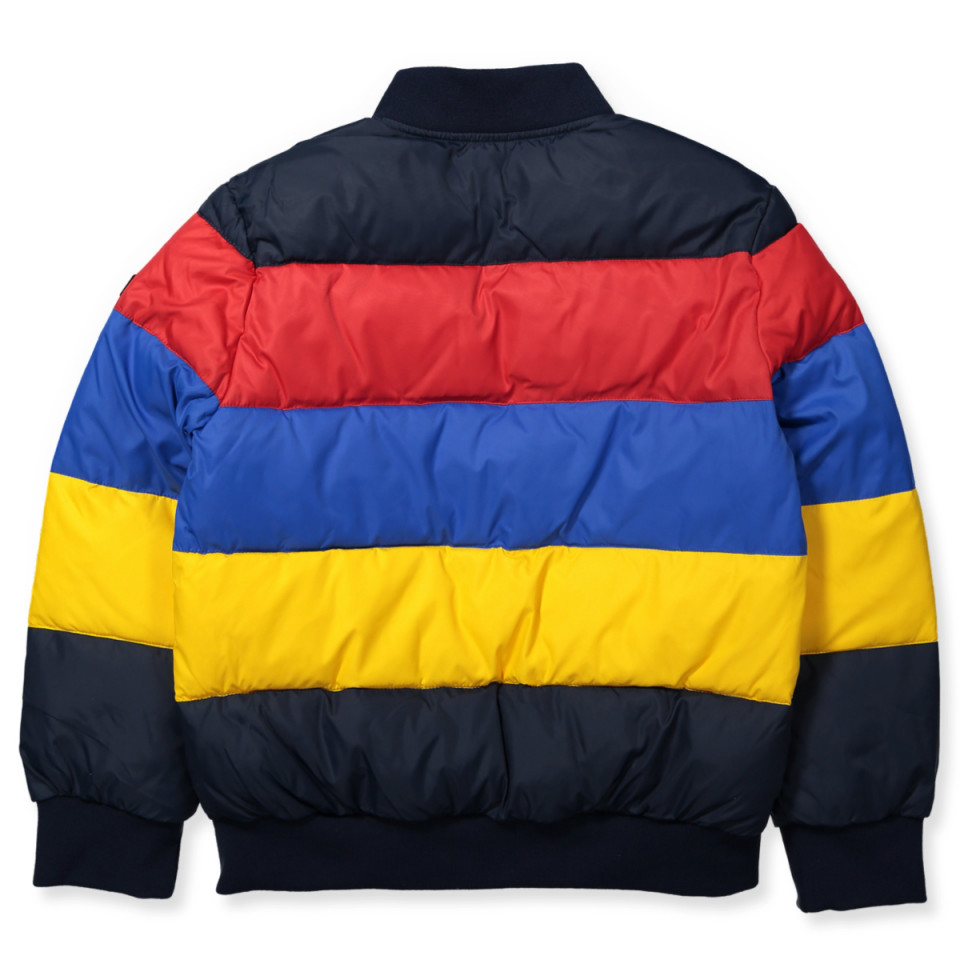 navy blue and yellow tommy hilfiger shirt