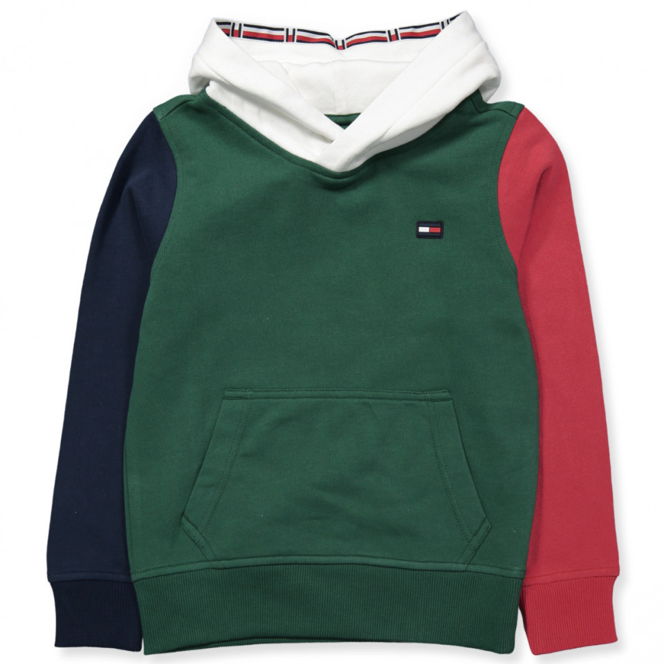 b0feaa1e3f26b8 Tommy Hilfiger - Green sweatshirt - Black Iris/MULTI