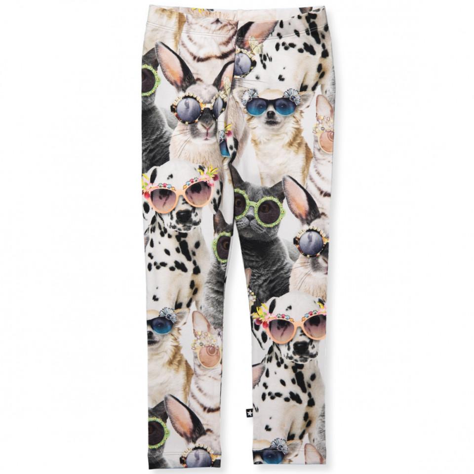 cbfd02f2 Molo - Niki leggings - Sunny Funny - Grey