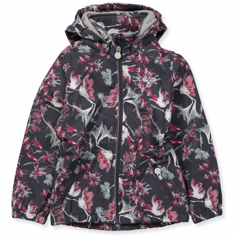 13729b1b782 Hummel - Elin softshell jacket - EBONY - Grey