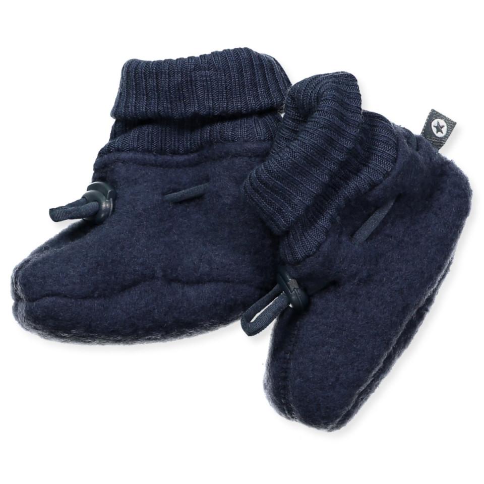 the best attitude 81cd5 c59c8 Navy wool fleece baby boots