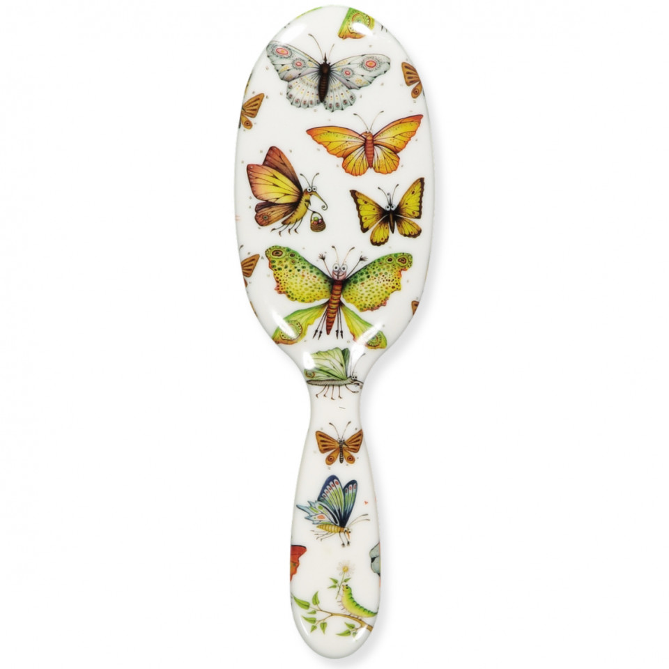 Hairbrush w. butterflies - large