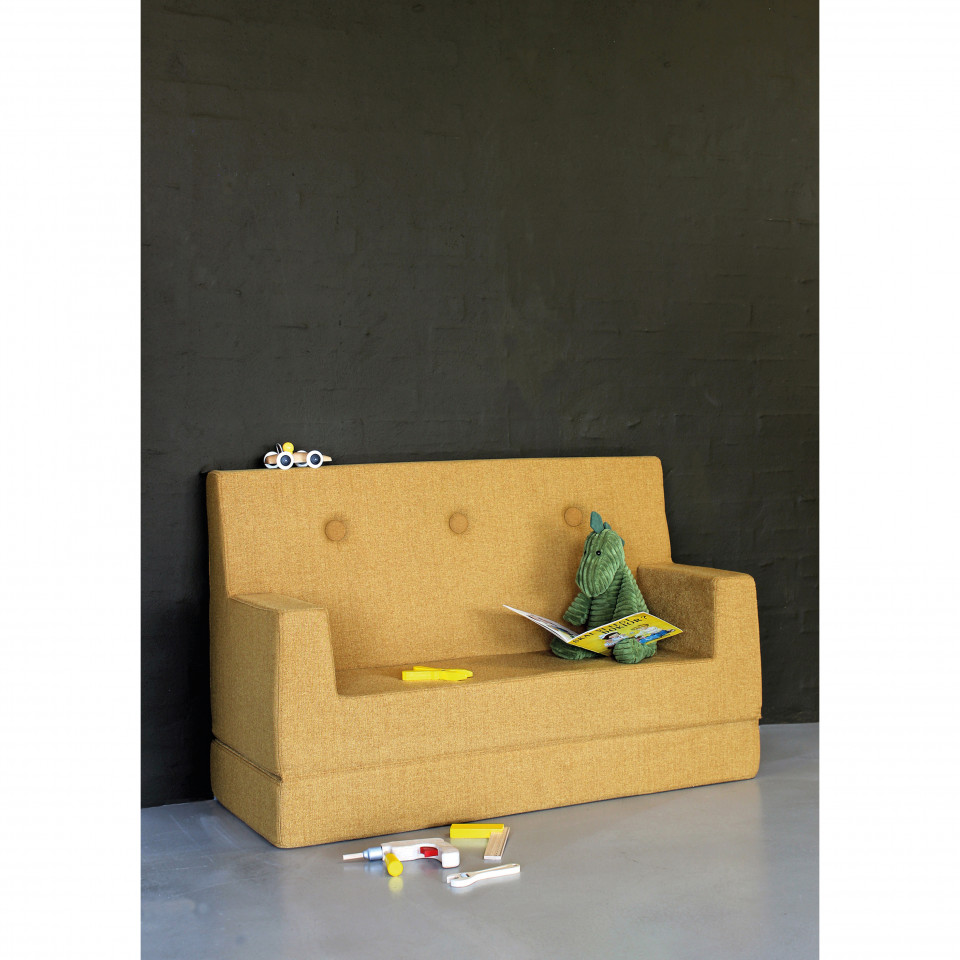 By Klipklap Kids Couch Mustard