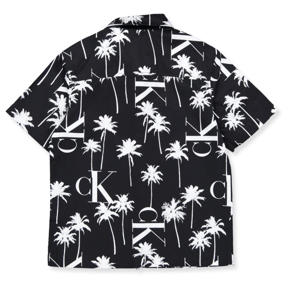Calvin Klein skjorte ss, Palm, sort