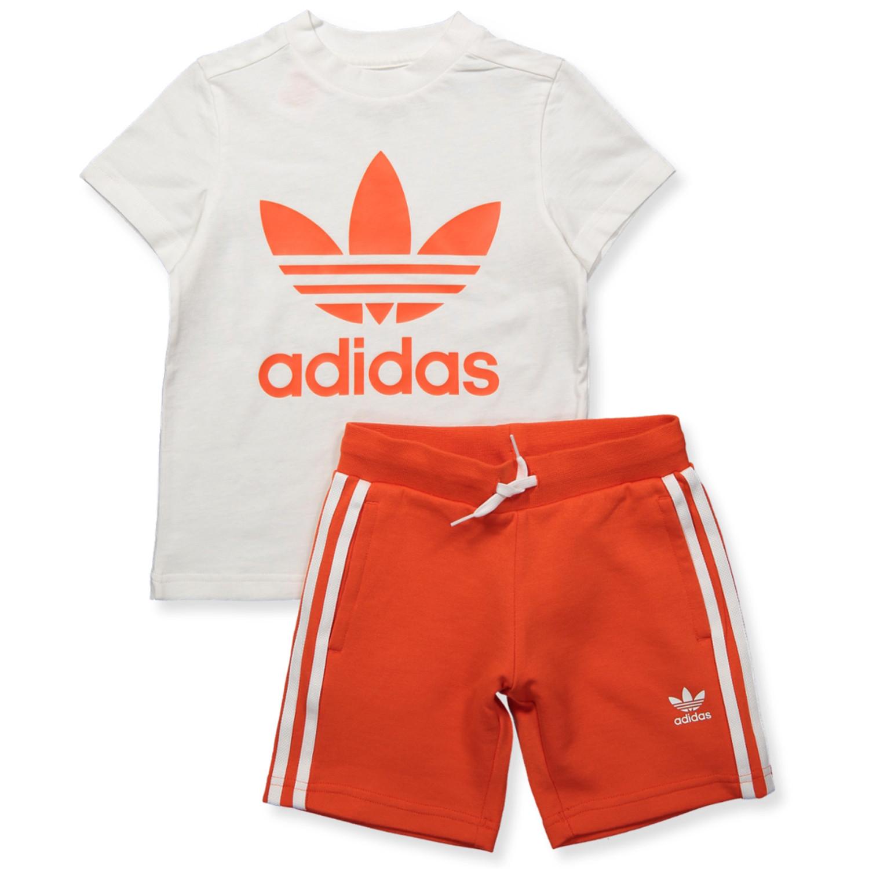 White shorts and t shirt set