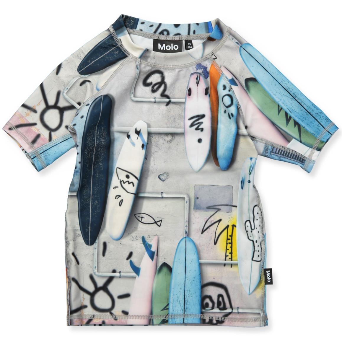 a07de7d9c9 Molo - Neptune UV 50+ t-shirt - Whales - Blue