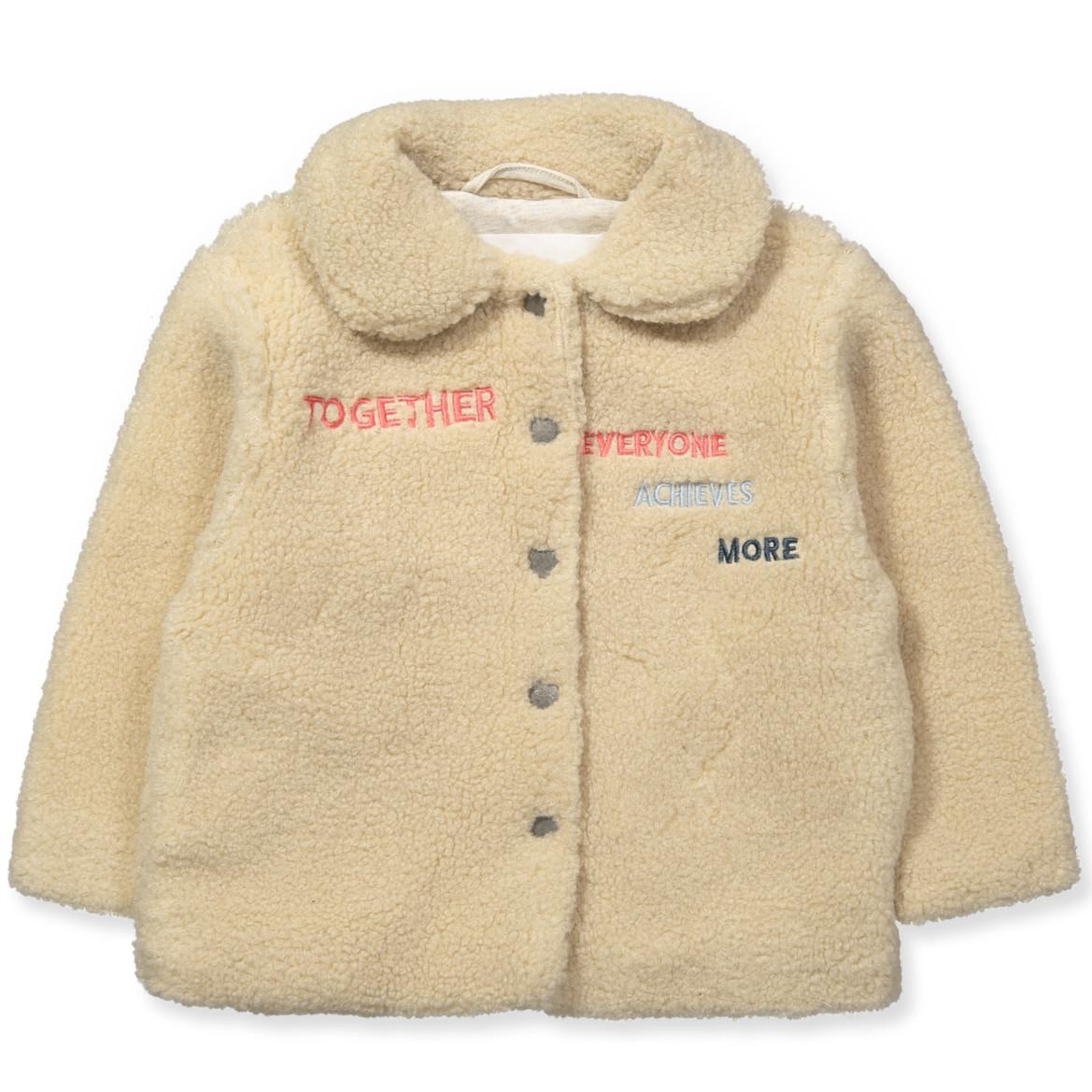 Teddy Coat Jakke Creme