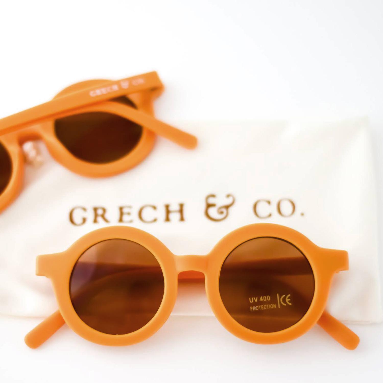 Grech Co Sustainable Sunglasses Golden Golden