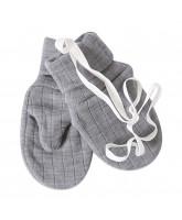 Grey wool mittens