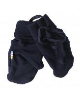 Navy wool mittens