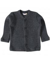 Grey winter wool cardigan