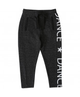 Black melange sweatpants