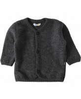 Grey fleece wool cardigan