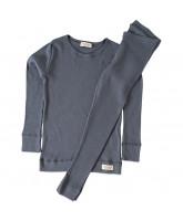 Ombre blue rib pyjamas
