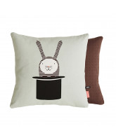 Rabbit in hat pillow