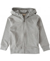 Grey melange zip sweat