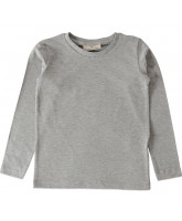 Grey melange LS t-shirt