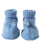 Blue winter wool bootees