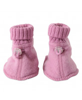 Rose winter wool bootees