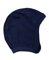 Navy bamboo baby hat