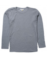 Grey wool/silk LS t-shirt