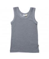 Grey wool/silk top