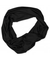 Black tube scarf