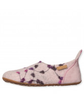 Rose wool slippers