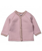 Powder merino wool fleece  cardigan