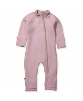 Powder merino wool fleece playsuit