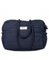 Navy organic quilted bag