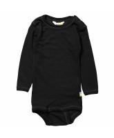 Black wool/silk bodysuit
