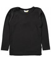 Black wool/silk LS t-shirt