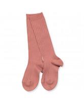 Rose rib knee socks