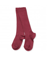 Bordeaux rib knee socks
