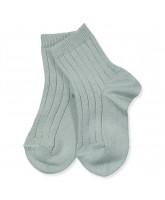 Green rib socks