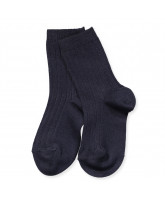 Navy rib socks