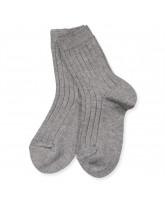 Grey melange rib socks
