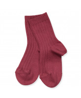 Bordeaux rib socks