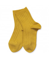 Curry rib socks