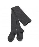 Grey rib tights