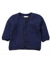 Blue wool fleece cardigan